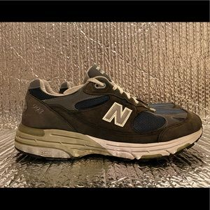 New Balance 993 Navy Made in USA MR993NV Walking Shoes Men's Size 10 2E